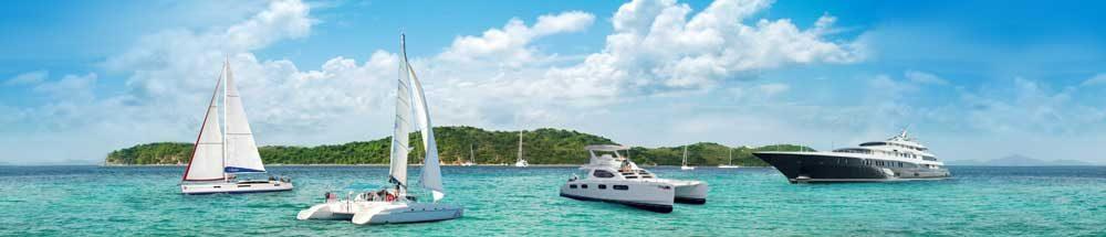 Zeilvakanties met zeilboten te huur, zeiljachten, catamarans en motorjachten, ook Gulets en (super) luxe jachten.